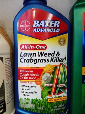 Bayer weed & crabgrass killer product