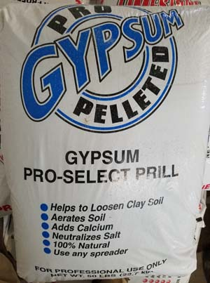 Gypsum sold by the experts at Delaware Valley Turf in Malvern PA