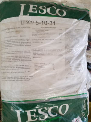 5-10-31 fertilizer sold by the specialists at Delaware Valley Turf in Bryn Mawr PA