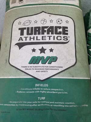 Infield conditioner sold by the experts at Delaware Valley Turf in Wayne PA