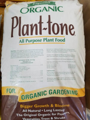 Plant-tone plant food sold by the experts at Delaware Valley Turf in Malvern PA