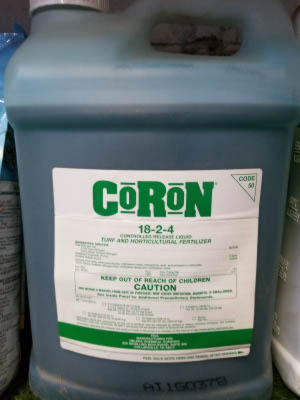 Coron fertilizer sold by the experts at Delaware Valley Turf in West Chester PA