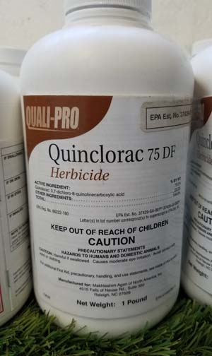 Quinclorac 75 DF sold by the professionals at Delaware Valley Turf in Bryn Mawr PA