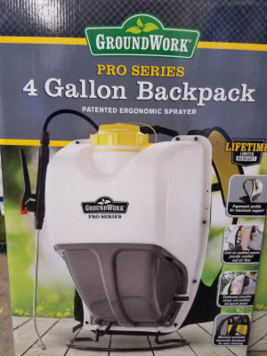 4 gallon backpack sprayer sold by the specialists at Delaware Valley Turf in Bryn Mawr PA