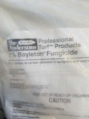 Bayleton Fungicide sold by the professionals at Delaware Valley Turf in Bryn Mawr PA