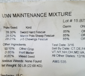 Fine Fescue Ryegrass Mix product
