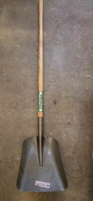 Flat scoop shovel sold by the specialists at Delaware Valley Turf in Malvern PA