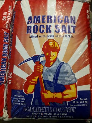 American rock salt sold by the experts at Delaware Valley Turf in Malvern PA