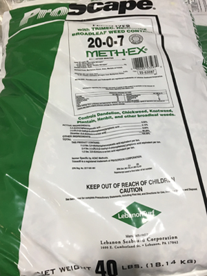 20-0-7 with Trimec (Weed & Feed) sold by the Professionals at Delaware Valley Turf in Newtown Square PA