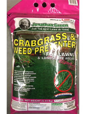 Crabgrass Weed Preventer 0-0-7 sold by the professionals at Delaware Valley Turf in Newtown Square PA