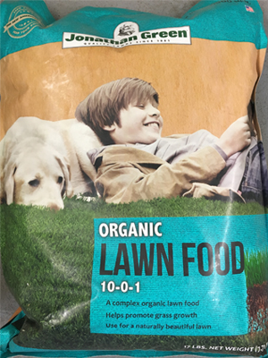 Organic Lawn Food 10-0-1 sold by the specialists at Delaware Valley Turf in West Chester PA
