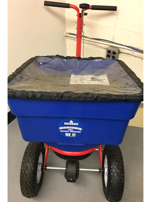 Walk spreader sold by the specialists at Delaware Valley Turf in Wayne PA