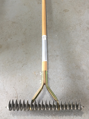 Thatch rake sold by the experts at Delaware Valley Turf in Wayne PA