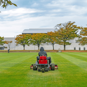 mowing athletic field